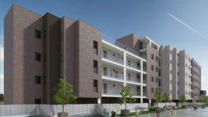 Rendering-Roma-Corte-Complesso residenziale