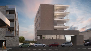Rendering-Roma-Tramonto-Complesso residenziale